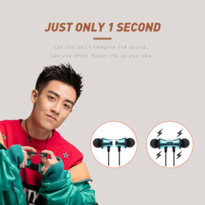 Overfly Bluetooth Earphone Magnetic Headphones XT-11 Wireless Sports Headset Bass Music Earpieces with Mic Headset For Samsung 1