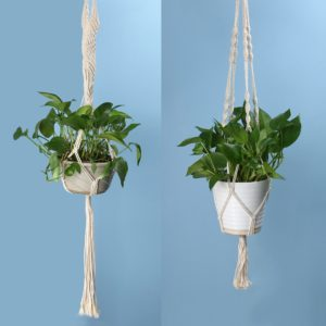 macrame flower pot design