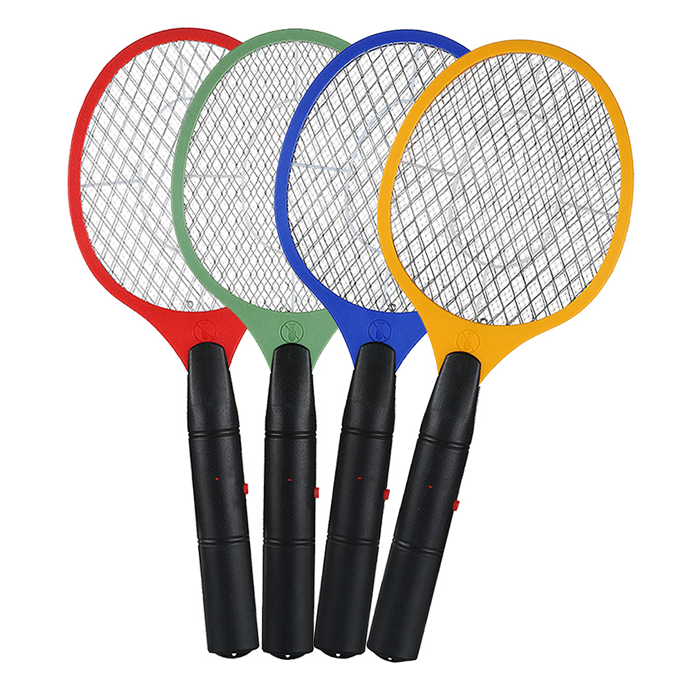 2 AA batteries Operated Hand Racket Electric Mosquito Swatter Insect Home Garden Pest Bug Fly Mosquito Zapper Swatter Killer 1