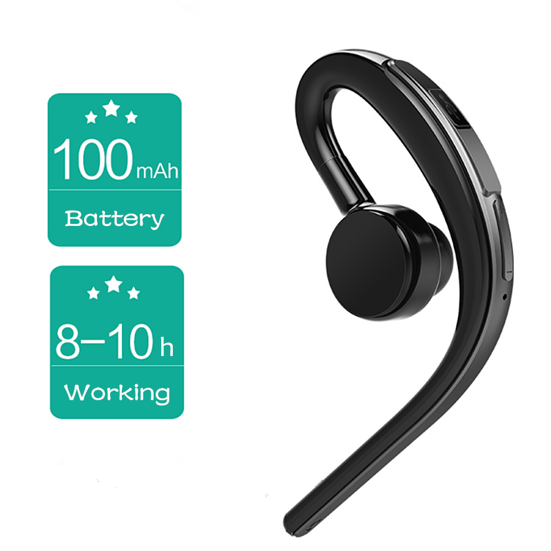 Fineborn Bluetooth headset earphone for phone wireless sweatproof sports bluetooth headphone with mic voice control with earbud 4