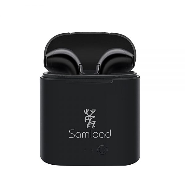 Samload I7 TWS Wireless Bluetooth Earbuds Stereo Headphone Mini True In-Ear Headsets Sports Earphone For Phones 6 7 Charging Box 5