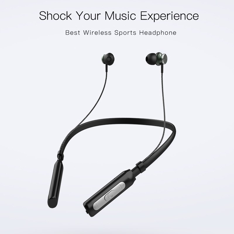 QCY BH1 Bluetooth headphones IPX5 waterproof earbuds sports wireless earphones lightweight neckband headset with Mmicrophone 1