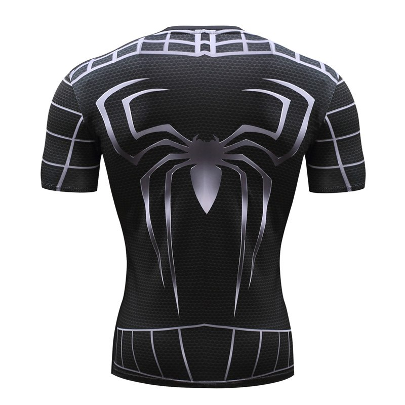 Spiderman 3D Print t shirts Men Compression fitness shirts Superhero Tops costume Short Sleeve Fitness Crossfit T-shirts 1