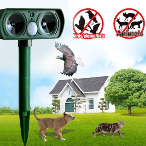 Ultrasonic Cat Repeller pest repeller Dog Fox Deterrent Chaser Repellent Eco-friendly Solar Powered Garden Pest Animal Repeller 1