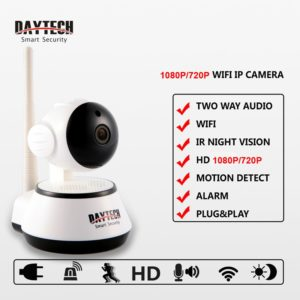 Daytech Home Security IP Camera Wireless WiFi Camera Surveillance 1080P/720P Night Vision CCTV Baby Monitor DT-C8815 1