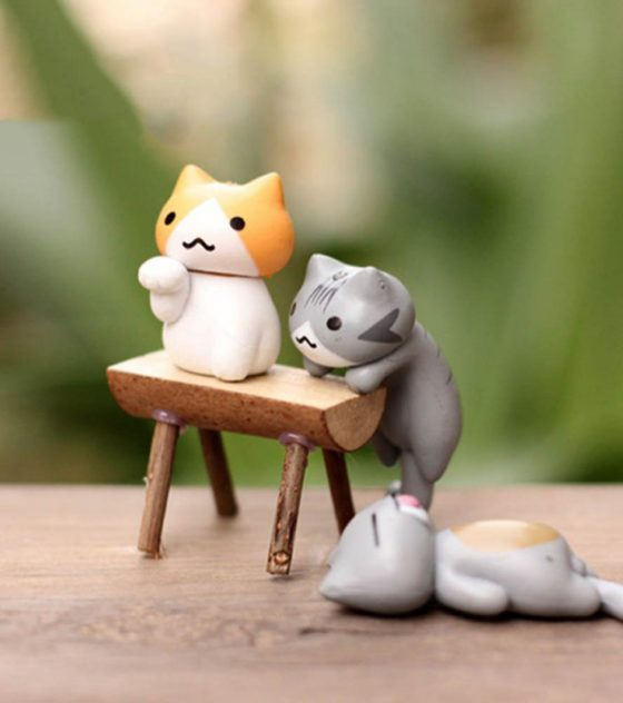 Lucky Cats garden decor
