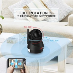 ANRAN 1080P Wifi Camera Home Video Surveillance Camera CCTV Night Vision Security Camera Two-Way Audio Baby Monitor 1920*1080 1