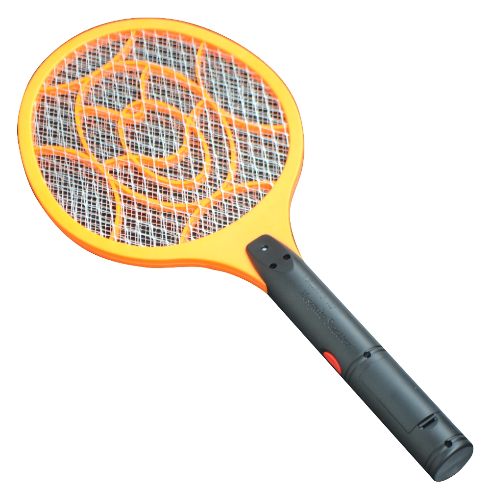 3 Layers Net Dry Cell Hand Racket Electric Swatter Home Garden Pest Control Insect Bug Bat Wasp Zapper Fly Mosquito Killer 1