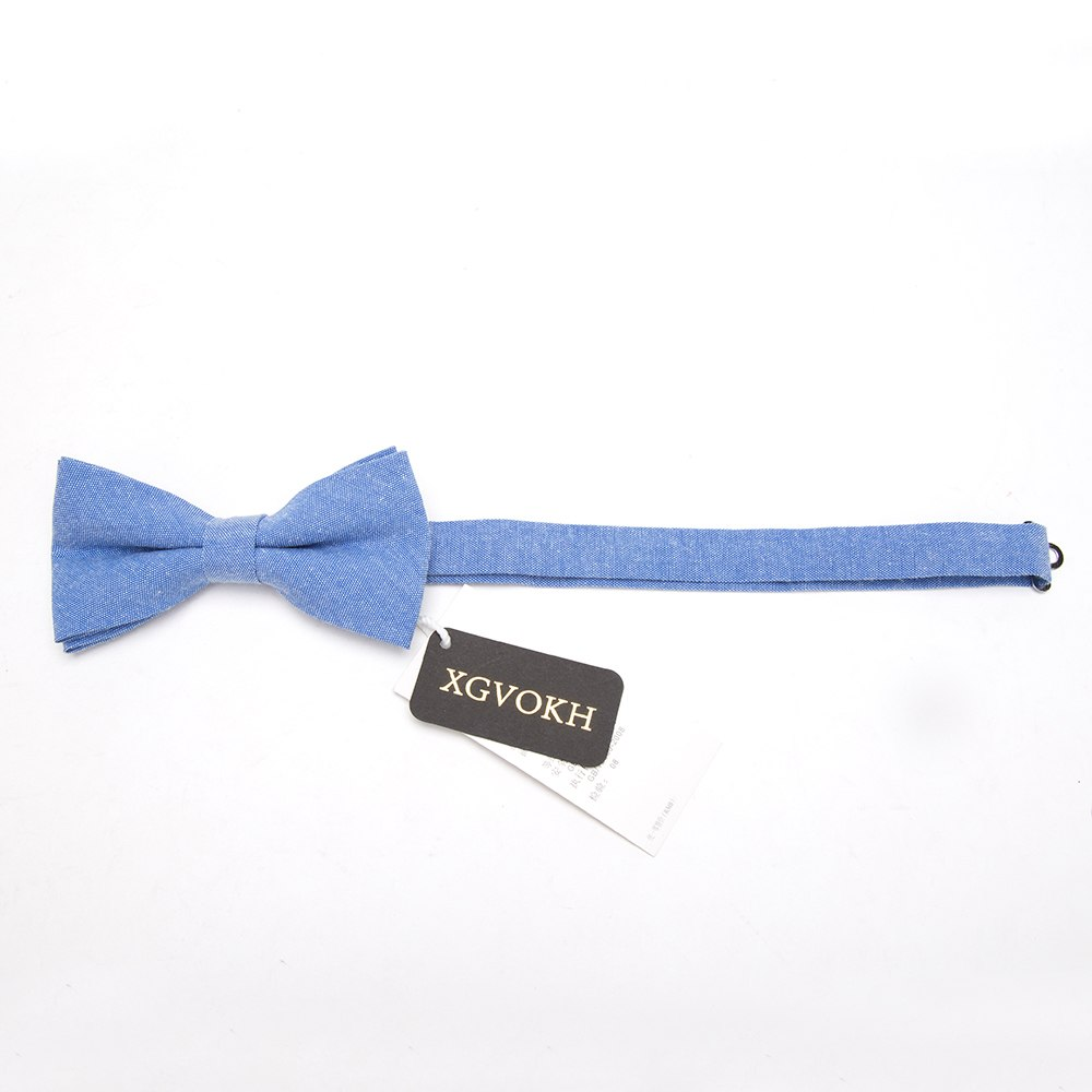 Bowtie 100% Cotton plain dyed Solid Bow Tie Party Accessories Gift Men Adjustable Formal wedding Butterfly Necktie 2