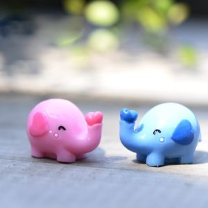 1Pcs Cute Cartoon Elephant DIY Resin Fairy Garden Craft Decoration Miniature Micro Gnome Terrarium Gift F0252 1