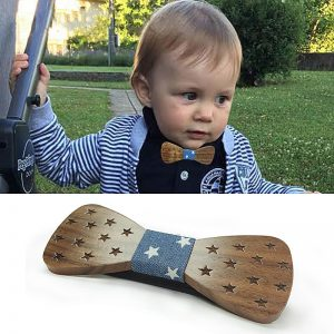 Dot Wooden Bow tie Baby