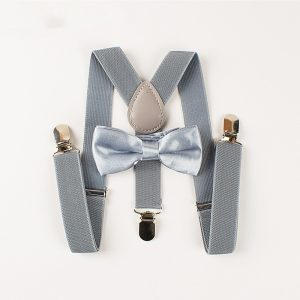Mantieqingway Bowtie Boys Kid Suspender Y-Back Adjustable Elastic Child Suspenders Bow Tie Sets Wedding Belt Strap Shirts Brace 1