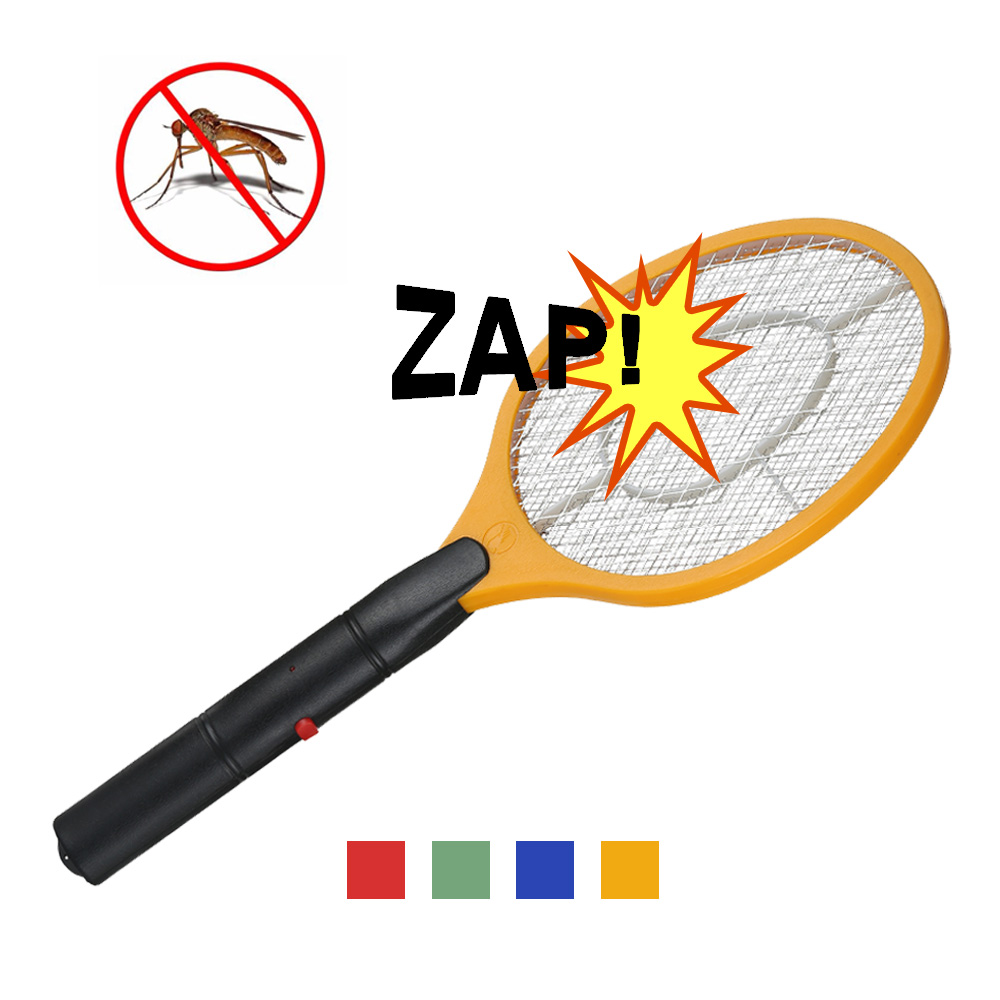 2 AA batteries Operated Hand Racket Electric Mosquito Swatter Insect Home Garden Pest Bug Fly Mosquito Zapper Swatter Killer 3