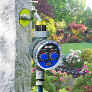 2pcs Aqualin Ball Valve Automatic Electronic Water Timer Home Garden Irrigation Controller Watering Timer System #21025-2 1