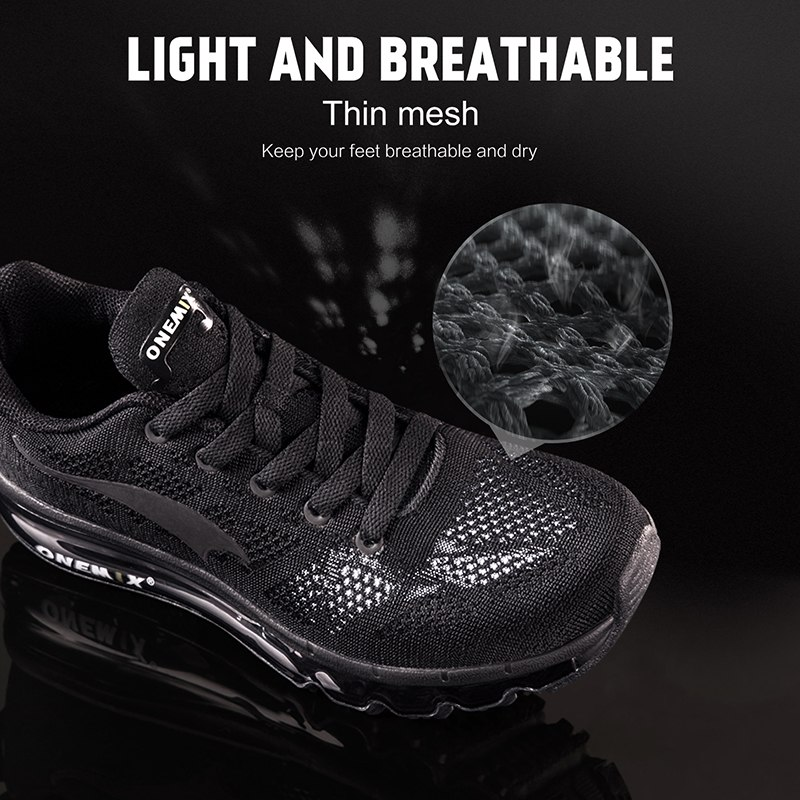 ONEMIX 2018 men running shoes light women sneakers soft breathable mesh Deodorant insole outdoor athletic walking jogging shoes 2