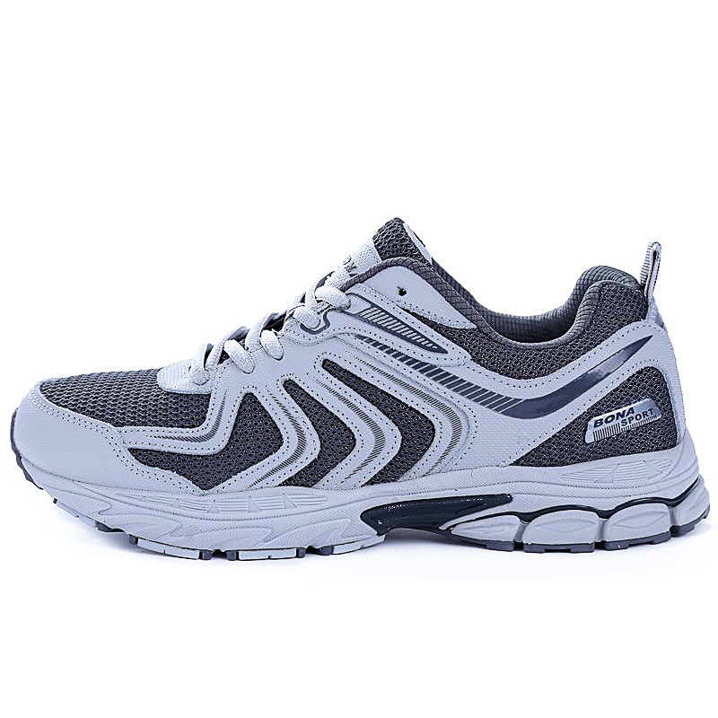 eaf86c7f8512f BONA New Arrival Hot Style Men Running Shoes Lace Up Breathable Comfortable  Sneakers Outdoor Walking Footwear
