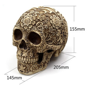 BUF Resin Craft Skull Statues & Sculptures Garden Statues Sculptures Skull Ornaments Creative Art Carving Statue 1