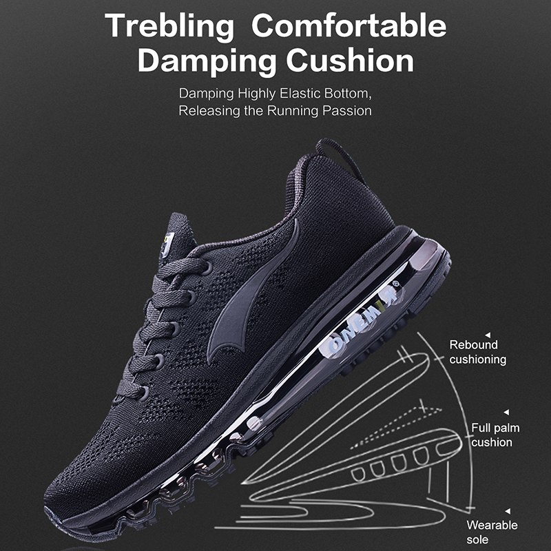 ONEMIX 2018 men running shoes light women sneakers soft breathable mesh Deodorant insole outdoor athletic walking jogging shoes 3