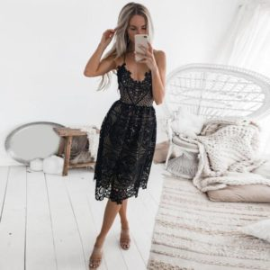 sexy party lace dress