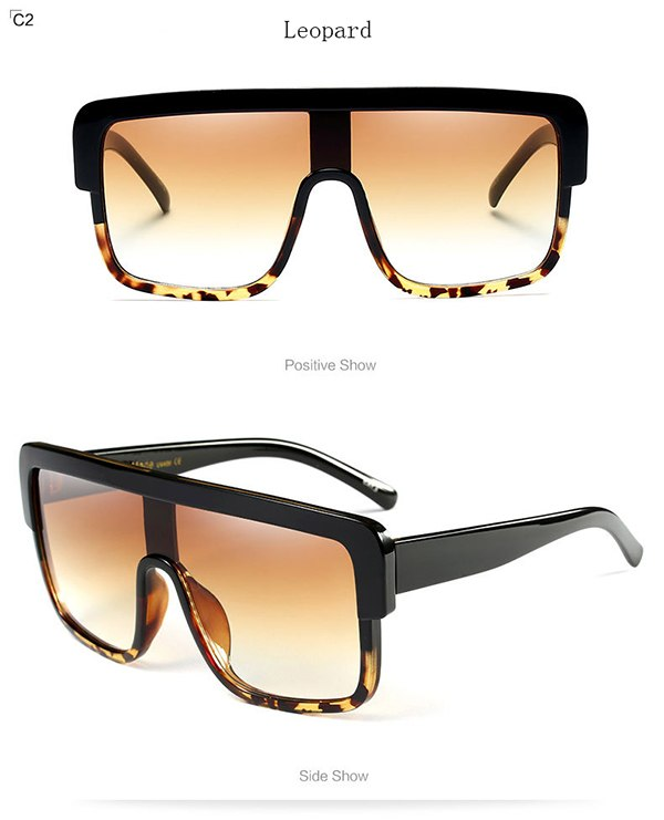 big frame men and women sunglasses