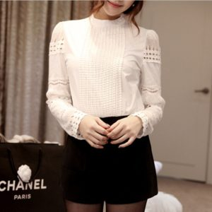 Long sleeved White lace shirt