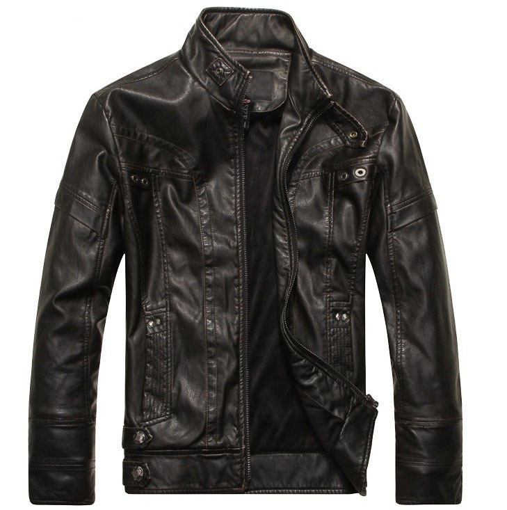 mens leather coats cheap