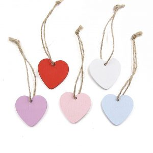 wedding favours wooden hearts