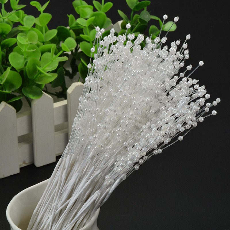 white pearl artificial flowers