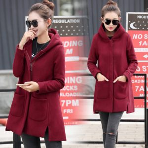 long fleece women's jacket