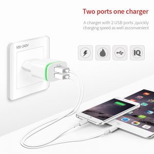 charger with 2 usb ports