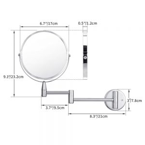 wall mounted makeup mirror