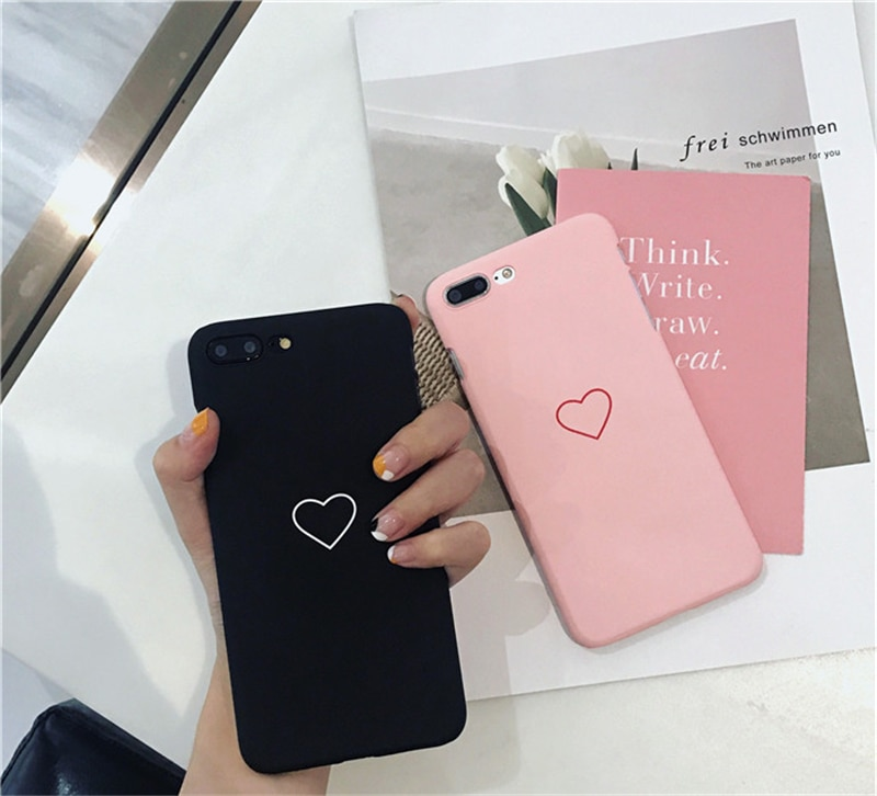 finest selection 0faae 0b358 iPhone 8 Plus Case / 5, 5s, SE, 6, 6+, 6s, 6s+, 7, 7+, 8, X, Cute Love  Heart Print Pone Cover