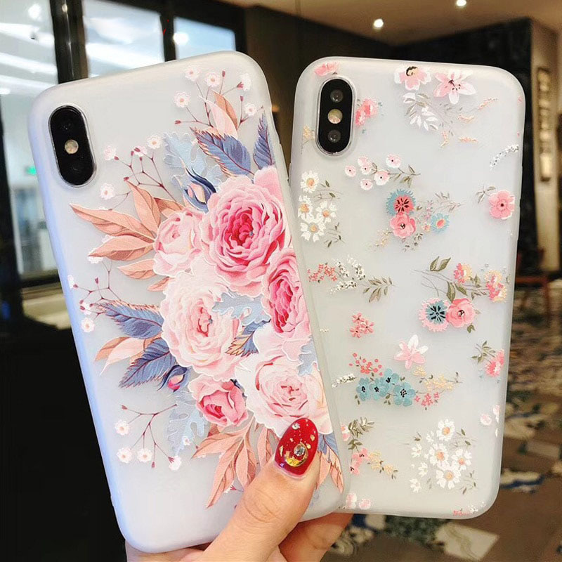 purchase cheap 79ec0 a4834 iPhone 7 Plus Case / X, XR, XS, XS Max, SE, 5, 5s, 6, 6+, 6s, 6s+, 7, 8,  8+, Flower Silicon Phone Case