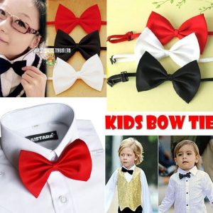 Wholesale Kids Children Bow Tie 10 Colors Solid Plain Butterfly For Tuxedo Wedding Banquet Birthday Prom Costumes Gift Neck Bows 1