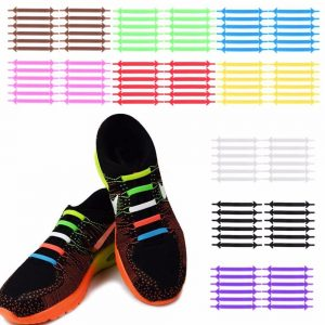 Creative Design Unisex Women Men Athletic Running No Tie Shoelaces Elastic Silicone Shoe Lace All Sneakers 9 Colors Optional 1