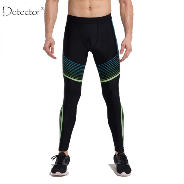 Detector Running Tights Men Jogging Sport Leggings GYM Fitness Compression Pants Exercise Quick-Drying Trousers 2