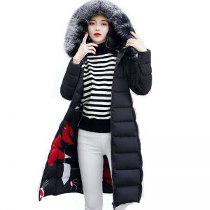 With fur hooded Woman Winter Jacket Women's Coat Plus Size 3XL Padded long Parka Outwear for women Jaquata Feminina Inverno 1