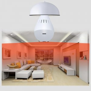 Bulb Lamp Wireless IP Camera Wifi 1080P Panoramic FishEye Home Security CCTV Camera 360 Degree 3D VR Security Bulb wifi camera 1