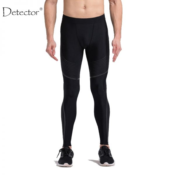 Detector Running Tights Men Jogging Sport Leggings GYM Fitness Compression Pants Exercise Quick-Drying Trousers 4