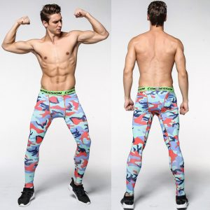 Mens Camouflage Tight trousers Running training compression Quick-drying Gym jogging Fitness pants Men leggings drawers Briefs 1