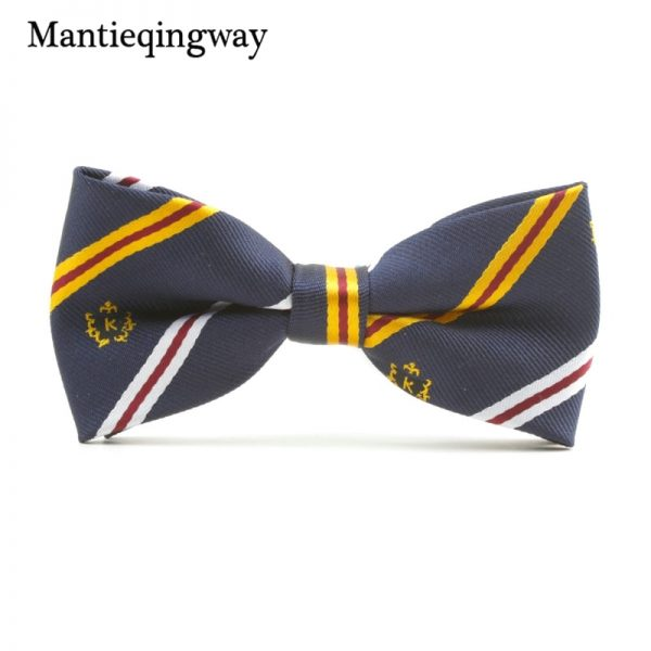 Mantieqingway Casual Children Bow Tie Accessories Cartoon Bowtie Polyester Bow Tie for Boys Neck Wear Bowknot Christmas Bow Ties 3
