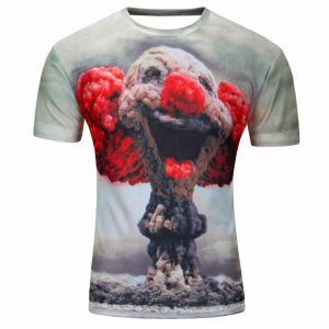 Fashion 2018 New Cool T-shirt Men/Women 3d Tshirt Print Suicide clown Short Sleeve Summer Tops Tees T shirt Male M-4XL 1