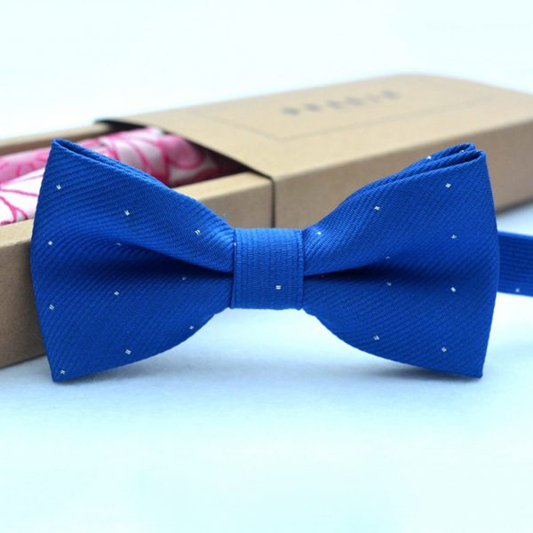 Brand new fashion popular butterfly gravata party bowtie wedding bow tie for boys girls candy color dot pattern bowknot 4