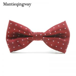 Mantieqingway Casual Children Bow Tie Accessories Cartoon Bowtie Polyester Bow Tie for Boys Neck Wear Bowknot Christmas Bow Ties 1