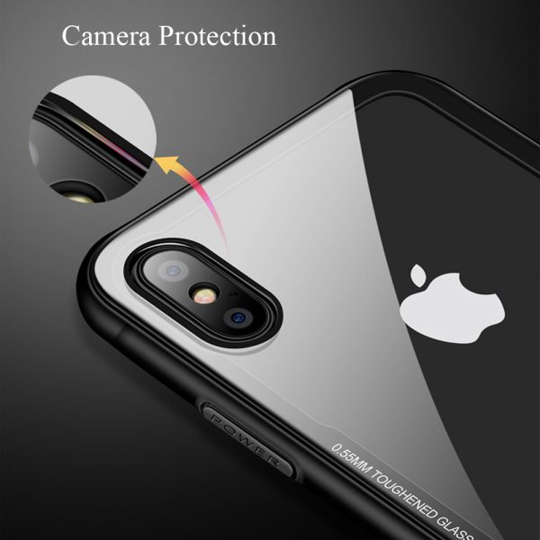 iphone xr tempered glass case