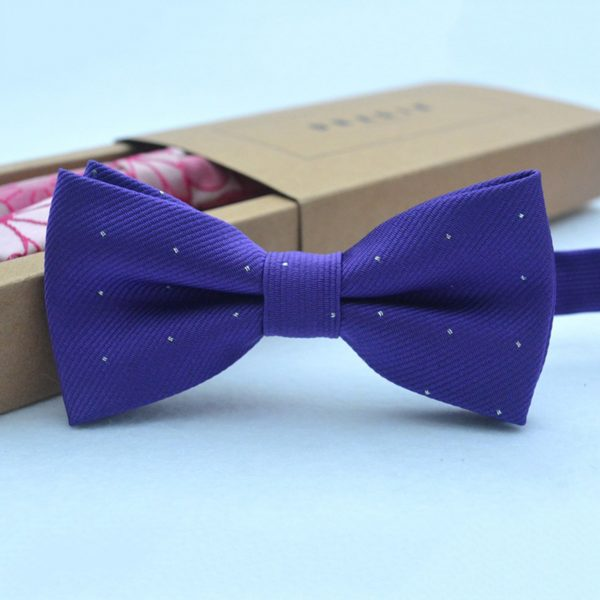 Brand new fashion popular butterfly gravata party bowtie wedding bow tie for boys girls candy color dot pattern bowknot 1