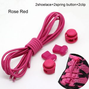 Stretching Lock lace 22 colors a pair Of Locking Shoe Laces Elastic Sneaker Shoelaces Shoestrings Running/Jogging/Triathlon 1