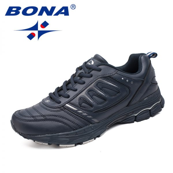BONA New Style Men Running Shoes Ourdoor Jogging Trekking Sneakers Lace Up Athletic Shoes Comfortable Light Soft Free Shipping 2