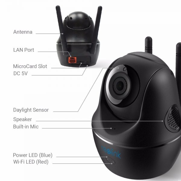 Reolink Baby Monitor WiFi Camera 2.4G/5G 4MP Full HD Pan/Tilt Video Surveillance Indoor Home Security IP Camera C1 Pro 1