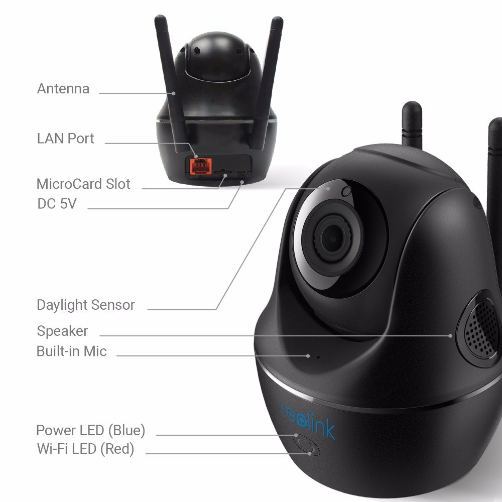 Reolink Baby Monitor WiFi Camera 2.4G//5G 4MP Full HD Pan//Tilt Video Security Cam